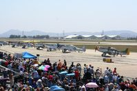 Chino Airport (CNO) - Mustang lineup during the 2012 airshow - by Nick Taylor