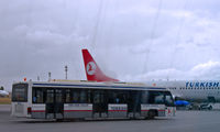 Ankara Esenbo?a International Airport - A THY bus taking passengers to their plane - by Murat Tanyel