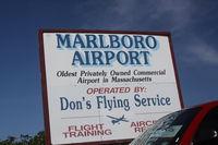 Marlboro Airport (9B1) - Entrance to Marlboro Airport - by Mark Silvestri