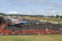 Friday Harbor Airport (FHR) - Photo of the ramp for the 2012 Friday Harbor Fly-in. Low cloud in the morning reduced the numbers of visitors - by Duncan Kirk
