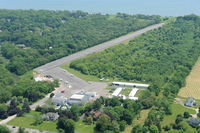 Mattituck Airport (21N) - Overview fm NW - by Stephen Amiaga