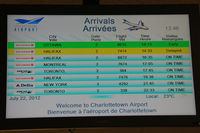Charlottetown Airport - These are the five destinations on scheduled flights from Charlotteville. - by Tomas Milosch