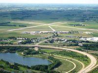 Waterloo Regional Airport (ALO) - Waterloo (KALO) Runways looking NW - by Ray Rich