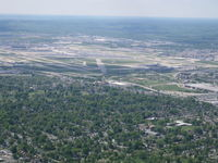 Louisville Intl-standiford Field Airport (SDF) - Looking from dwontown - by Ray Rich