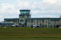Oxford Airport - Oxford tower and Terminal building - by Chris Hall