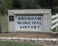 Brenham Municipal Airport (11R) - BRENHAM MUNI AIRPORT ENTRANCE SIGN - by dennisheal