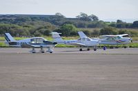 Swansea Airport, Swansea, Wales United Kingdom (EGFH) - Visiting and resident aircraft at Swansea Airport. - by Roger Winser