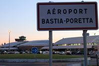Bastia Poretta Airport - Terminal of Poretta at sunrise - by micka2b