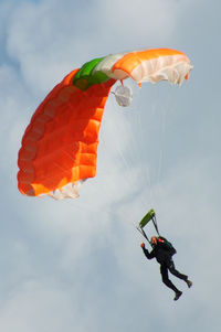 EIAB Airport - parachutist at Abbeyshrule Airport, Ireland - by Chris Hall