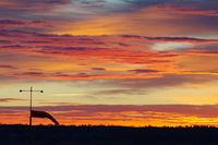 Billings Logan International Airport (BIL) - 10-20-2012  Today's sunrise at KBIL  No post processing done. - by Daniel Ihde