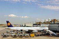 Portela Airport (Lisbon Airport), Portela, Loures (serves Lisbon) Portugal (LPPT) - Preparations for return flight to FRA are running at gate 123...... - by Holger Zengler