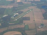 Defiance Memorial Airport (DFI) - Looking west from 4500' - by Bob Simmermon