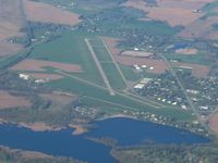 Branch County Memorial Airport (OEB) - Looking SW at 4500' - by Bob Simmermon