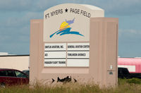 Page Field Airport (FMY) - South Entrance - by Mauricio Morro
