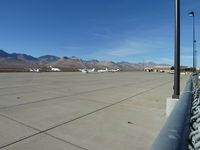 Inyokern Airport (IYK) - The ramp at Inyokern Aiport. - by Bo Shaw