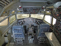 Snohomish County (paine Fld) Airport (PAE) - B 727 cockpit at the Future of Flight exhibition - by Micha Lueck