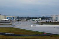 Snohomish County (paine Fld) Airport (PAE) - The world's largest building by volume on the left: The production lines for B 747/767/777/787 - by Micha Lueck
