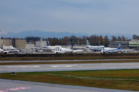 Snohomish County (paine Fld) Airport (PAE) - A number of B 747s and B 787s awaiting completion and subsequent delivery - by Micha Lueck