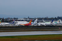 Snohomish County (paine Fld) Airport (PAE) - How many different airlines can you spot? - by Micha Lueck