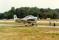 Sussex Airport (FWN) - North American T-28 Trojan at the 1988 Sussex New Jersey Air Show, Sussex, NJ - by scotch-canadian