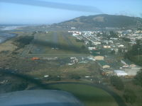 Gold Beach Municipal Airport (4S1) - Approach to Runway 34, Gold Beach, Oregon (4S1) - by Mel B. Echelberger