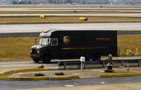 Hartsfield - Jackson Atlanta International Airport (ATL) - UPS truck - by Ronald Barker