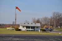Andy Barnhart Memorial Airport (3OH0) - The Clubhouse and windsock at Andy Barnhart Memorial Airport, New Carlisle, OH USA - by tshiverd