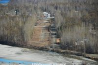 Talkeetna Village Strip Airport (AK44) - Aerial pic of the runway Village Airstrip - by Chris Barszczewski