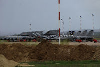 Decimomannu Air Force Base - Decimomannu AB parking 9 Tornado and 5 AMX Ghibli - by BTT