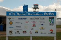 Sebring Regional Airport (SEF) - Sign at the US Sport Aviation Expo, Sebring Regional Airport, Sebring, FL  - by scotch-canadian