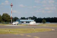Williston Municipal Airport (X60) - Airport Beacon, Fuel Truck and Pyper Kub Cafe at Williston Municipal Airport, Williston, FL  - by scotch-canadian