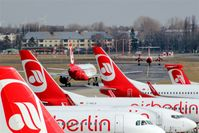 Tegel International Airport (closing in 2011), Berlin Germany (EDDT) - Apron at terminal C can be pretty crowded in the morning and at afternoon.....  - by Holger Zengler