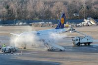 Tegel International Airport (closing in 2011), Berlin Germany (EDDT) - Deice ceremony after a cold night at TXL.... - by Holger Zengler