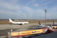 Tegel International Airport (closing in 2011), Berlin Germany (EDDT) - Western view on visitor´s terrace.... - by Holger Zengler