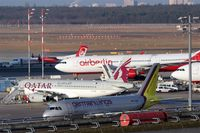 Tegel International Airport (closing in 2011), Berlin Germany (EDDT) - View from staircase in Terminal A over visitor´s terrace to apron next to fuel depot.... - by Holger Zengler