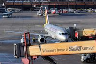 Tegel International Airport (closing in 2011), Berlin Germany (EDDT) - Business as usual around stand 12 at Terminal A.... - by Holger Zengler
