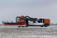 Leipzig/Halle Airport, Leipzig/Halle Germany (EDDP) - Snowplow no. 109 on duty...... - by Holger Zengler