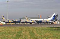 Bournemouth Airport, Bournemouth, England United Kingdom (EGHH) - Colourful Cargo Ramp - by John Coates