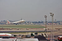 London Heathrow Airport, London, England United Kingdom (EGLL) - A 747-400, one of Air India's fleet of 6 aircraft, lifts off at Heathrow. The airports never ending alterations continue to take place in the foreground. - by Harry Longden
