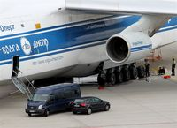 Leipzig/Halle Airport, Leipzig/Halle Germany (EDDP) - Maintenance work on undercarriage of an Volga-Dnjepr Airlines AN 124-100. - by Holger Zengler