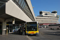 Tegel International Airport (closing in 2011), Berlin Germany (EDDT) - Bus service outside the main building. - by Tomas Milosch