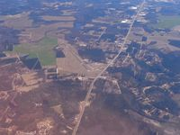 Cheraw Muni/lynch Bellinger Field Airport (CQW) - Looking east from 10,000 ft. - by Bob Simmermon