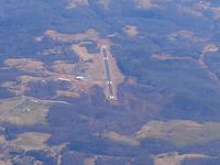 Elkin Municipal Airport (ZEF) - Looking down RWY 7 from 10,000 ft. - by Bob Simmermon