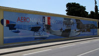 Hyères Le Palyvestre Airport - Mural painted on the wall of the entrance to the meeting of the centenary of the French Aviation Navy  - by BTT