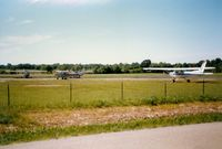 Dutchess County Airport (POU) - Cessna 152's at Dutchess County Airport, Poukeepsie, NY  - by scotch-canadian