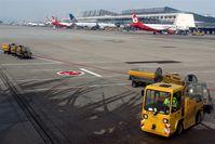 Stuttgart Echterdingen Airport, Stuttgart Germany (EDDS) - Baggage cart doesn´t come for spotters.... - by Holger Zengler