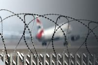 Stuttgart Echterdingen Airport, Stuttgart Germany (EDDS) - Barbwire impression at rwy 07/25...... - by Holger Zengler