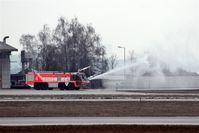 Stuttgart Echterdingen Airport - Fire engine no. 4 produces water mist..... - by Holger Zengler