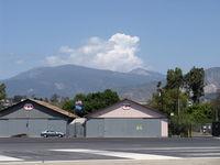 Santa Paula Airport (SZP) - Cumulus cloud building beyond 6,704' Hines Peak, taken about 15 minutes after first photo  - by Doug Robertson
