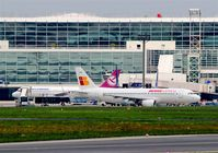 Frankfurt International Airport, Frankfurt am Main Germany (EDDF) - Business as usual at stand 114 in front of Terminal 2...... - by Holger Zengler
